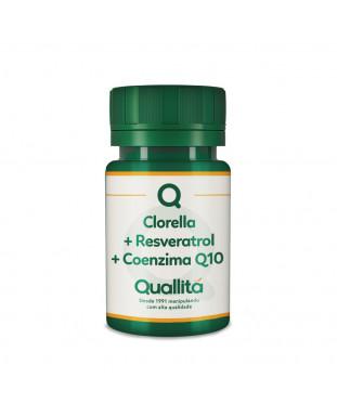 Clorela 500mg + Resveratrol 10mg + Coenzima Q10 50mg - Proteja sua pele